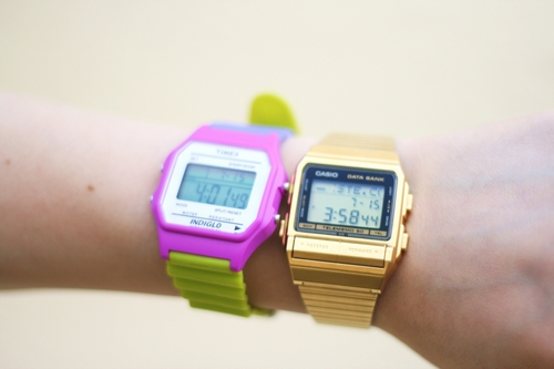 montre retro casio timex