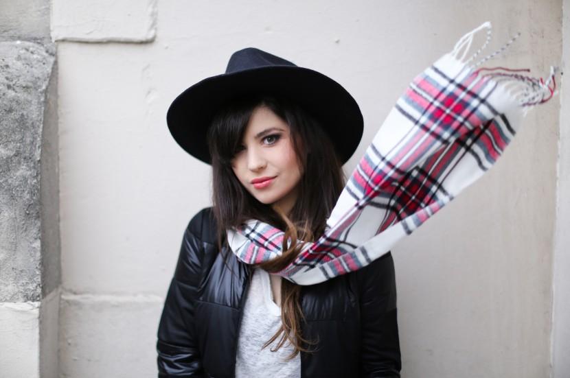 plaid scarf fashion blog