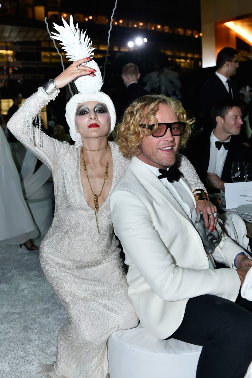 DUBAI, UNITED ARAB EMIRATES - OCTOBER 30: (L-R)Catherine Baba and Peter Dundas attends the Gala event during the Vogue Fashion Dubai Experience 2015 at Armani Hotel Dubai on October 30, 2015 in Dubai, United Arab Emirates.  (Photo by Cedric Ribeiro/Getty Images for Vogue and The Dubai Mall) *** Local Caption *** Peter Dundas;Catherine Baba