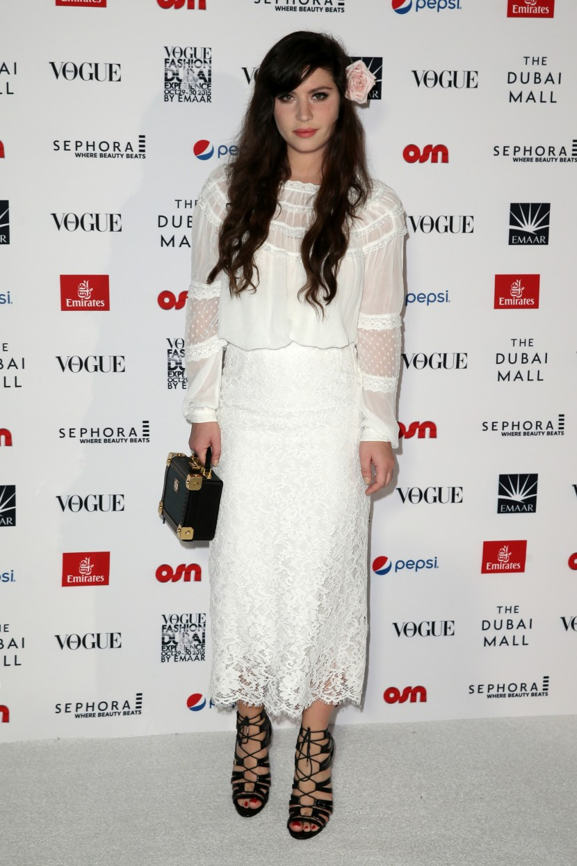 DUBAI, UNITED ARAB EMIRATES - OCTOBER 30:  Blogger and Web Influencer Betty Autier attends the Gala event during the Vogue Fashion Dubai Experience 2015 at Armani Hotel Dubai on October 30, 2015 in Dubai, United Arab Emirates.  (Photo by John Phillips/Getty Images for Vogue and The Dubai Mall) *** Local Caption *** Betty Autier