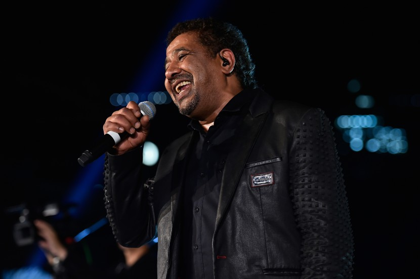 DUBAI, UNITED ARAB EMIRATES - OCTOBER 30:  Cheb Khaled perfroms live at the Gala event during the Vogue Fashion Dubai Experience 2015 at Armani Hotel Dubai on October 30, 2015 in Dubai, United Arab Emirates.  (Photo by Cedric Ribeiro/Getty Images for Vogue and The Dubai Mall) *** Local Caption *** Cheb Khaled